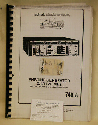 Adret Electroniques 740A VHF/UHF Generator 0.1/1120MHz Operating&Service Manual