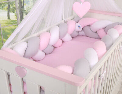 Luxury ALL ROUND NURSERY BUMPER 360cm long/to fit Cot 120x60cm  COTTON!