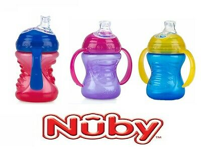 Nuby Baby Infant Drinking Cup Sipeez Super Spout Grip N Sip 240ml Non Spill 4m+