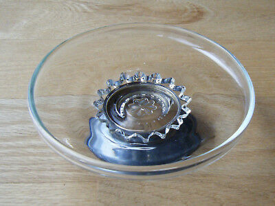 1960s WEB Sterling Co Crystal Compote Cake Plate Sterling Silver Base