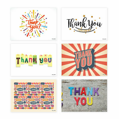 Pack of 20 Thank You Cards Thankyou Postcards Notes Pads Adults Mens Ladies	 - P
