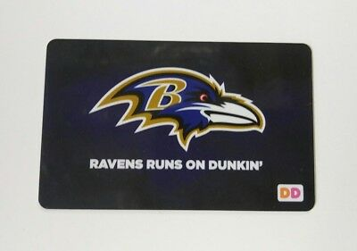 Baltimore Ravens Dunkin Donuts Reloadable Collectable Card (not gift card)