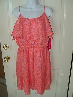 Lilly Pulitzer for Target Women's Satin Flounce Dress Giraffing Me Crazy SIZE L