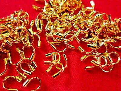 50 Wire Guardians Protectors 4mmx5mm Gold Coloured #1607 Jewellery Making Craft