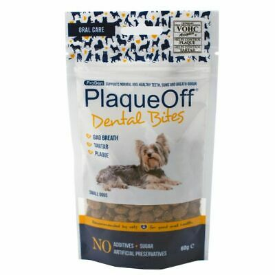 ProDen Plaqueoff Dental Bites Small Dogs 60g Tooth Care Bad Breath Plaque Tartar