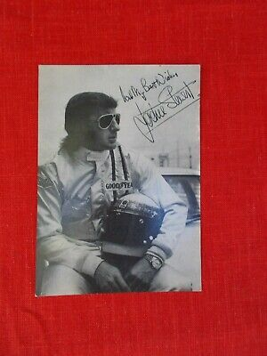 1971 Jackie Stewart printed autograph photo Goodyear formula 1 racing  promotion