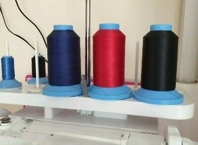 Robison Anton Polyester Machine embroidery thread 5500yds Black Red & Blue