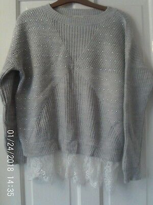 Grey Jumper By River Island, Aged 11-12 Years
