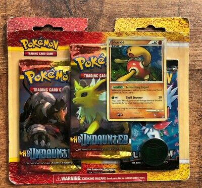 Pokemon TCG HS Undaunted Shuckle 3 Booster Pack Blister HGSS15 Pack 2