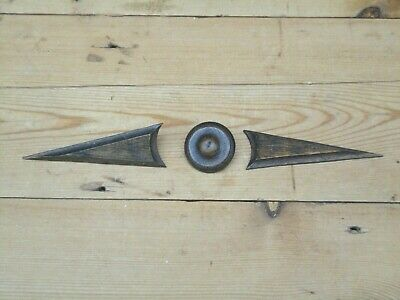 Vintage Wooden Finial Decorative Details Circular Arrow Furniture Restoration J3