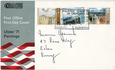 1971 Ulster - PO - Ulster Paintings Day, Norwich H/S - Cat £50 !