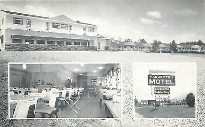 Twin Mountain NH~Paquette Carpeted/Heated Motel~Drive-In Movie Theater Near~1956