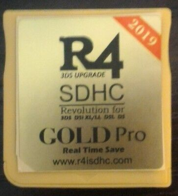 Cartuccia Sdhc R4 Gold Pro 2019 Per Nintendo 3Ds 2Ds New 3Ds Xl Ds Dsi Lite &
