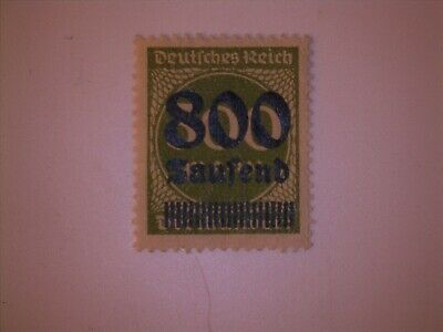 German Empire Stamp 307 1923 800 over 300