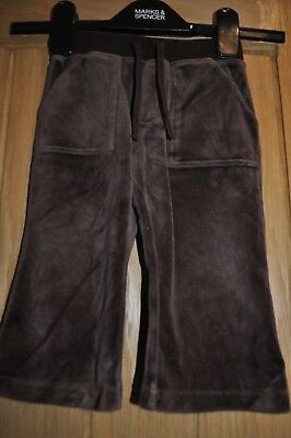 Baby Gap Girls Brown Trousers / Tracksuit Bottoms - Age 12-18 Months