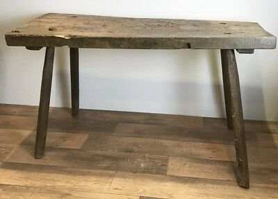 Antique Rustic French Butchers Block Table