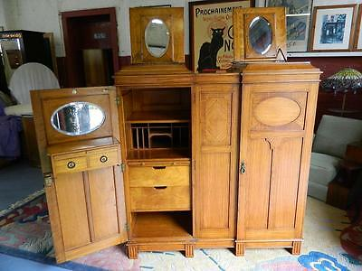Superb Gentlemen's Satinwood Compactum/Wardrobe C1910-20.The Best !