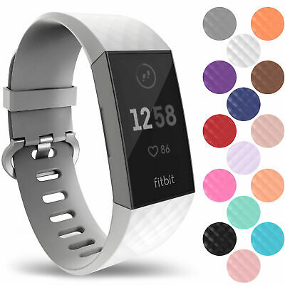 Fitbit Charge 3 Wrist Straps Wrist Band Accessory Replacement Rubber Watchbands