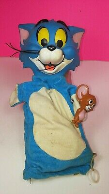 Mattel 1966 Vintage Tom and Jerry Pull String Puppet Figure