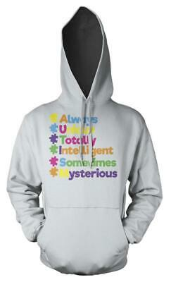 Always Unique Totally Intelligent Sometimes Mysterious Autism Kids Hoodie