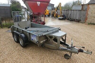 Ifor Williams Gd8X4 Trailer With Full Peace Ramp And Cage Sides 2584Kg