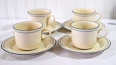Lenox Chinastone Blue Pinstripes cups and saucers great condition