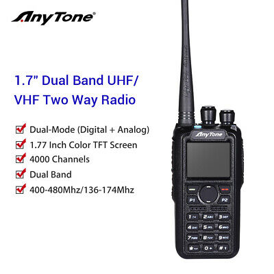 ANYTONE AT-D878UV GPS + 2 Free Items !! Updated firmware Upgraded