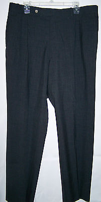 Mens MARK SHALE Gray Wool Pants Pleated Size 40