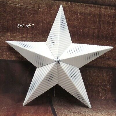 "BURGUNDY Barn Stars 6 pcs  3 3//8/"" Wide  Dimensional Metal Barn Stars Primitive"