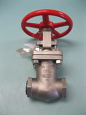 "1-1/2"" NPT Aloyco 300# Stainless Steel 2110S Gate Valve NEW B20 (2231)"