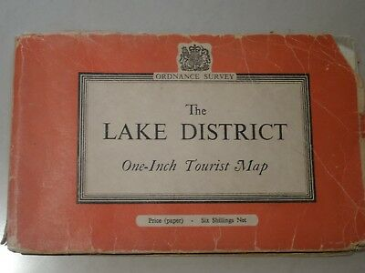 Ordnance Survey One-Inch Tourist Map -The Lake District (1958)