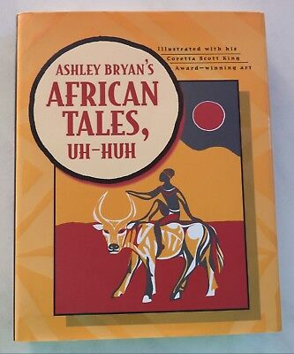 Ashley Bryan's African Tales, Uh-Huh childrens  Picture Book HBDJ GREAT ILS