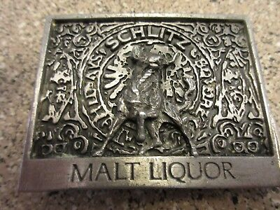 Vintage Schlitz Malt Liquor Metal Belt Buckle ( Free Ship ) BB2
