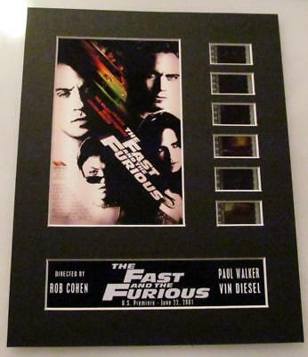 THE FAST & THE FURIOUS 35mm Movie Film Cell Display 8x10 Presentation