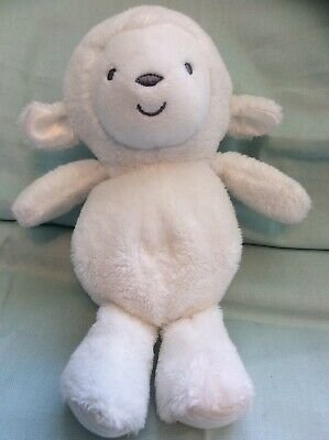 1e909a2ae Carters Precious Firsts White Lamb Sheep Baby Toy Rattle Crinkle 9