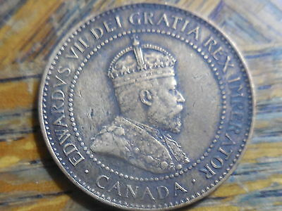 1904 Edward VII Large Canadian One Cent Coin (seller's # 176)
