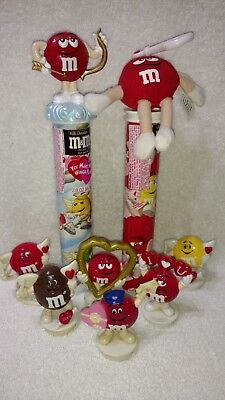 M&M's 6 Valentine Candy Toppers & 2 Valentine Candy Tubes /W Toppers