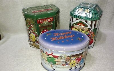 M&M's Holiday Tins Lot Of 3