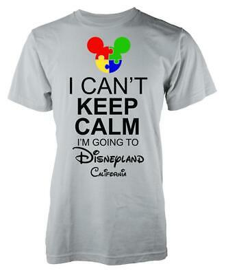 Autism Mickey I Can't Keep Calm I'm Going To Disneyland California Kids T Shirt