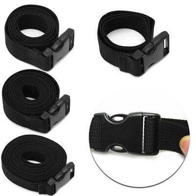 Adjustable Cargo Tie Down Luggage Backpack Lash Belt Strap Cam Buckle Travel Set