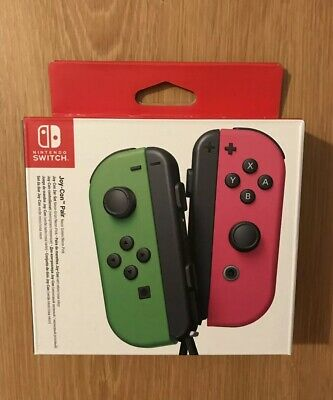 Nintendo Switch Neon Green/Pink Joy-Con Controller Pair - BOX Only