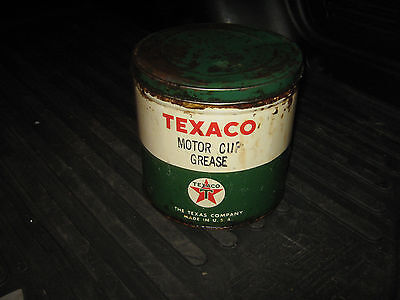 Texaco Motor Cup Grease 5 Pound Almost Full Can