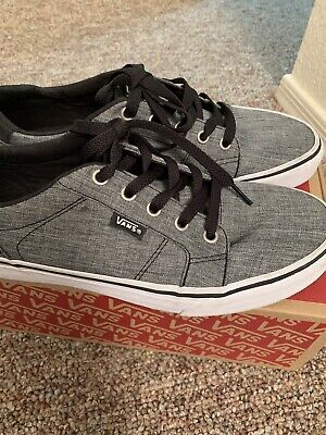 75754cd1f8 VANS OLD SCHOOL Checkers Suede and Cloth Black White Mens Size 8 ...
