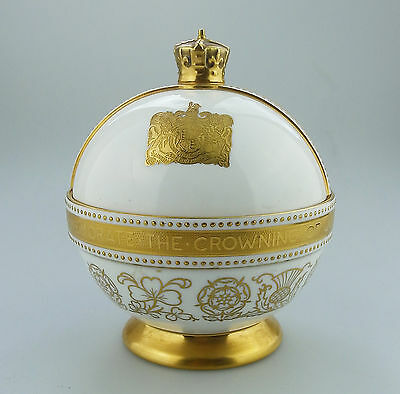 Minton Bone China Orb Commemorate Crowning of QEII John Wadsworth LTD ED 1952