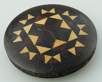 Antique Sewing Treen a rosewood Tunbridge ware Silk Spinner Thomas Barton C.1870