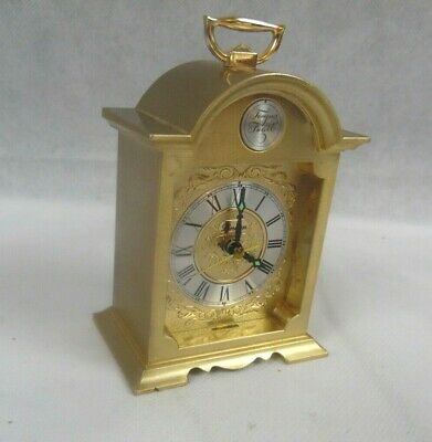 VTG CLOCK TEMPUS FUGITE SWIZA Swiss Brass Carriage Desk Mantle Alarm WORKS