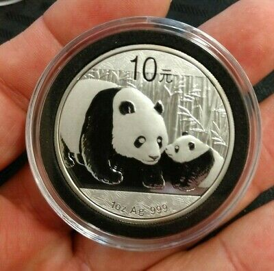 Excellent 2011 China 10 Yuan One 1 oz Ag Fine Silver 999 Panda Coin with Holder