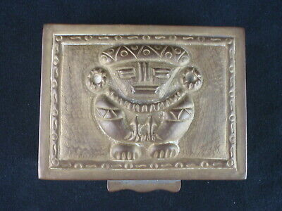 Vintage South American Colombian Chibcha Indian Brass Trinket Box