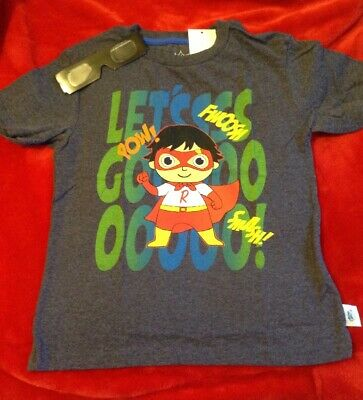 2df52d58f RYAN'S WORLD BOY'S Graphic Backpack Tee Shirt Size 7 shirt - $12.50 ...
