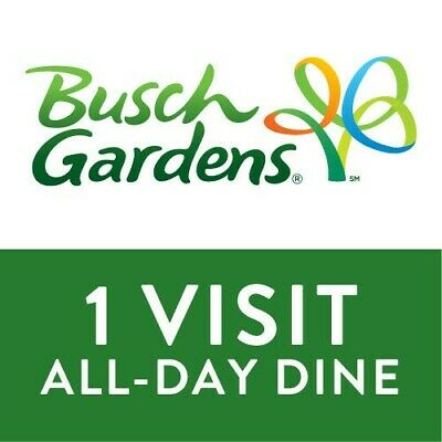 Busch Gardens Tampa Admission & All Day Dine Tickets Emailed Fast!